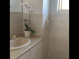 Guest bathroom with bath and shower