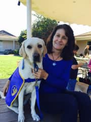 Diane and one of the service dog I raised