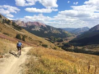 Mountain biking near Crested Butte, CO