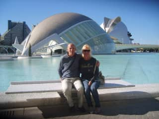 Emma and Steve  in Valencia Spain