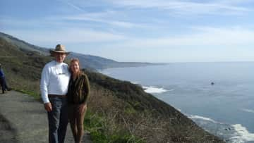 Mike and Judy on Californian Coast