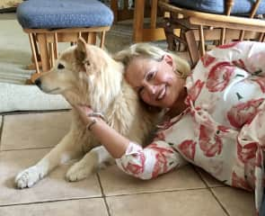 In S. California house/pet sitting for Fred and Julie for two weeks. Annabel loved our daily walks, play time and hanging out in the evenings together. They returned from vacation to a clean home, fixed leaky sink, and content dog.