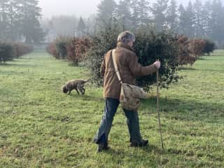 The truffle field is 10-acres. You would have access to this as well as the extensive gardens and grounds.