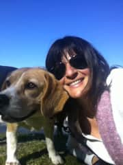 benson was my beloved beagle and myself at the park