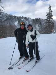 Hitting the slopes with my baby brother at Bogus Basin, Idaho!