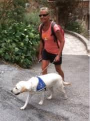 Susan with Jimbe  in training