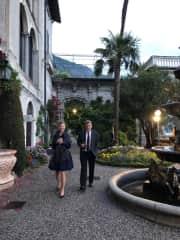 Anna and John at eldest daughter Emma's wedding - Lake Como