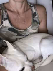 I loved sitting for Penny. What a cuddler!