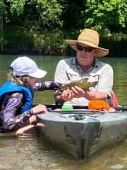 Catch and release on the James River, Missouri (June 2021)