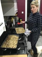 Anna baking