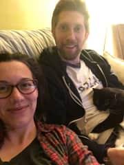 Janice and Matt with their cat Munchkin!