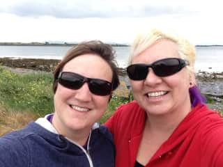 WIth my sister in Ireland!