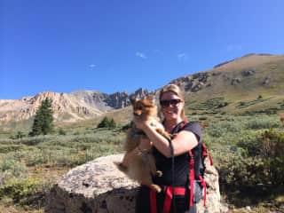 Hiking La Plata Peak with Riley