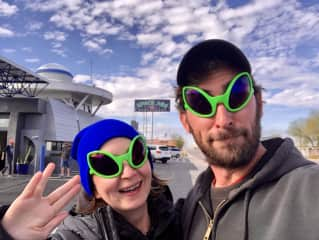 We have experience as house sitters, and as aliens. (Somewhere in New Mexico.)