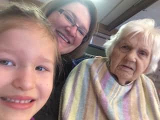 My grandma, one of my nieces & me