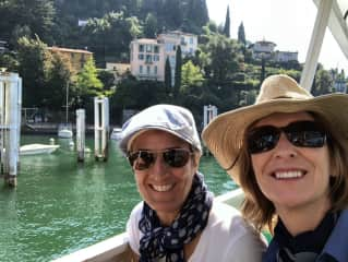 Jeannette and Suzy at Lake Como, Italy