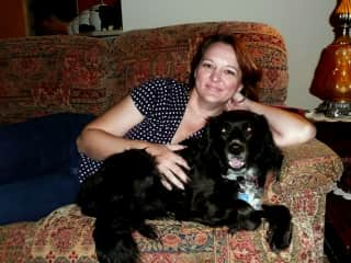 Biscuit and I. This was taken a few years back. I am normally behind the camera and not in front of it.