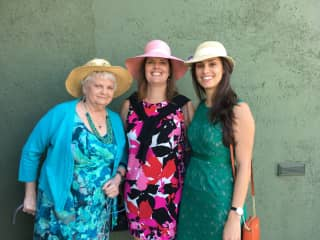 My mom, me, and my niece at Easter Los Angeles, CA