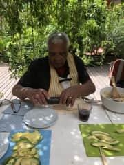 Ray making sushi