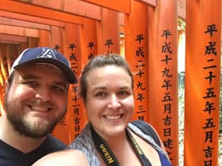 Exploring Kyoto with my Brother