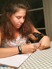 Writting a love letter for her
