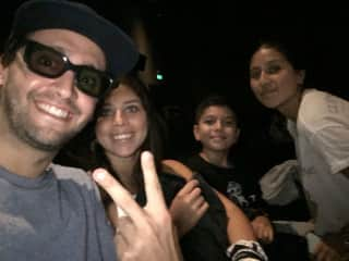 We really enjoy the cinema. Here with Luz siblings.