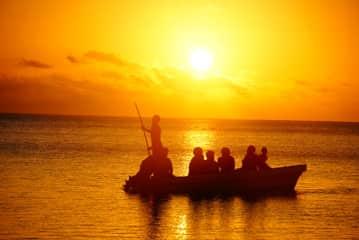 Fiji Matuku Island sunset