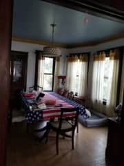Dining room post July 4th party