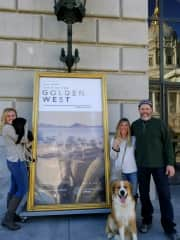 Reenie & Mark taking one daughter and 2 dogs to the San Francisco Opera :)