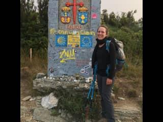 Walking the Camino de Santiago in Spain.