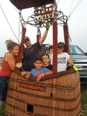 Marissa and Evan get to see what it's like to be in a hot air balloon.