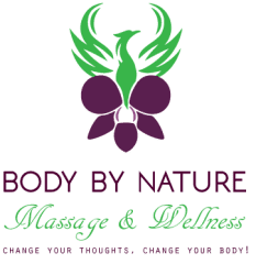 """My logo was inspired by my love and respect for Mother Nature. The mythical phoenix bird represents my rebirth; and, I like the orchid for its rare beauty, and many disguising features. A """"Body by Nature,"""" is its own Greater Physician."""