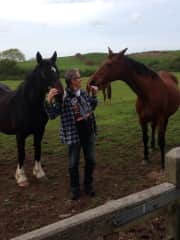 Wales, Hans with  Dina and Jonti.