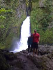 Kathryn and son, Luke, hiking
