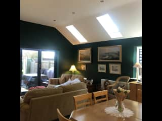 Our open plan living area with bi-fold doors to the garden.