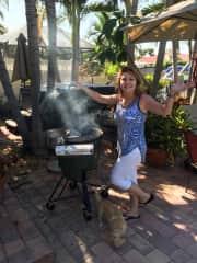Oh I love to cook! Smoking kingfish here!