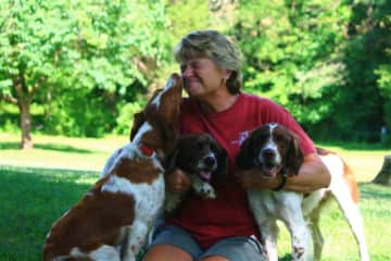 My wife Cindy with Pippa, Layla and Kayla