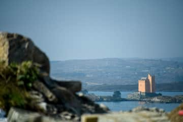 View from the house to Kilcoe Castle