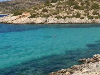 Me snorkeling for hours in my favorite beach in the world...Chios, Greece Sept 2019