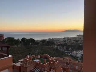 Sunset on the upper terrace