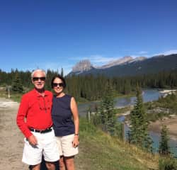 Susan and Saul in Banff, Canada