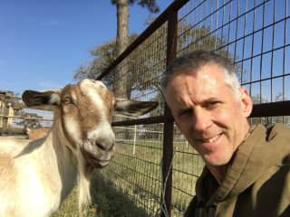 Michael and Alpine Dairy Goat