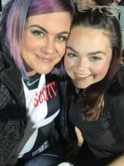My niece and I at the footy!