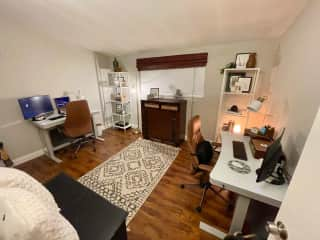 Full functioning office with high-speed WiFi and two standup desks!