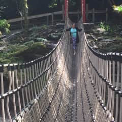 Local. Rope bridge