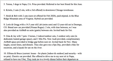 References List (beyond TrustedHousesitters.com) P. 4 of 5
