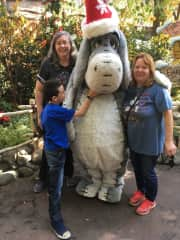 Elaine with family at Disneyland