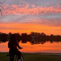 i love bike rides during sunset