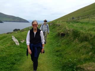 Julie and Tim hiking in Ireland