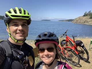 Cycling on Lopez Island